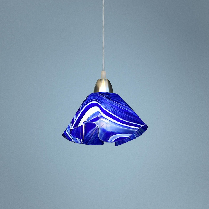 Jezebel Radiance Lily Cobalt Navy Blue and White Pendant - comes in any color