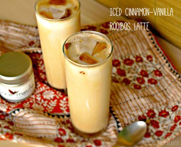 Iced Rooibos Latte with Cinnamon and Vanilla (Vegan)