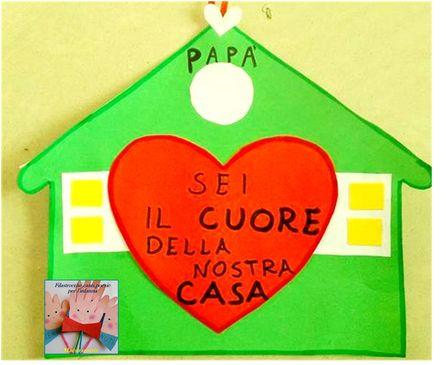 Lavoretto per la festa del papà.  Una casetta piena d'amore  https://126maestramaria.wordpress.com/2017/03/05/festa-del-papa-6/