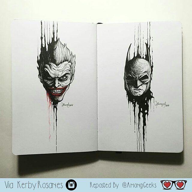 Joker/Batman  . . . #joker #batman #dccomics #dcuniverse #gotham #batmanandjoker #suicidesquad #Draw #Drawing #Art #Fanart #Artist #Illustration #Design #sketch #doodle #Geekart #Arthelp #Anime #Manga #Otaku #Gamer #Nerdy #Nerd #Comic #Geek #Geeky