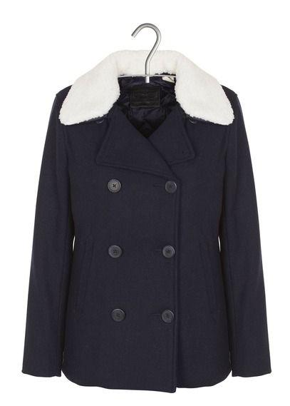 Manteau court en drap de laine  Bleu by LEVIS