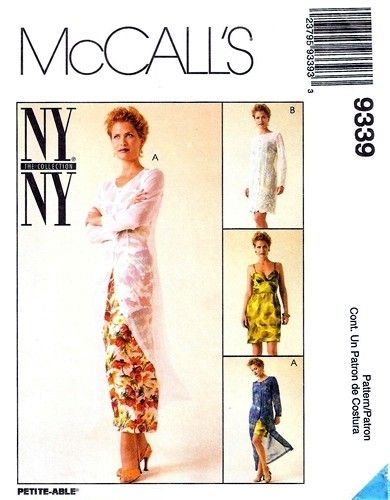 McCall's 9339 Dishy Dress & Sheer Slipdress 1998