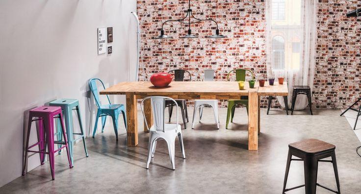 Krzesło LOFT ze stali szczotkowanej
