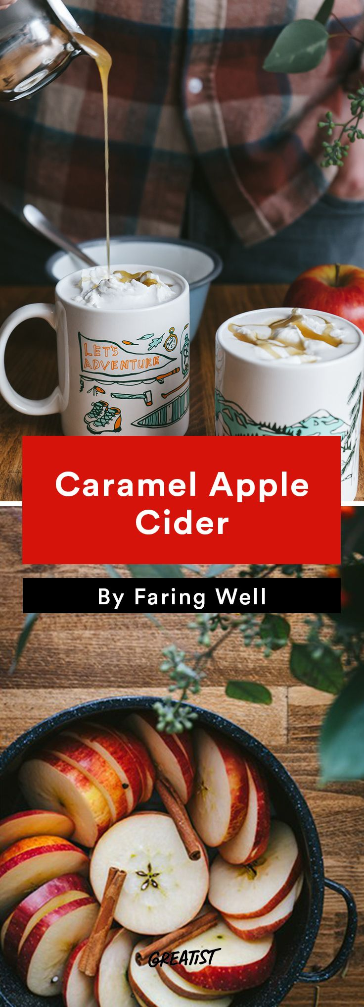 2. Caramel Apple Cider #fall #recipes http://greatist.com/eat/fall-recipes-to-take-on-a-picnic
