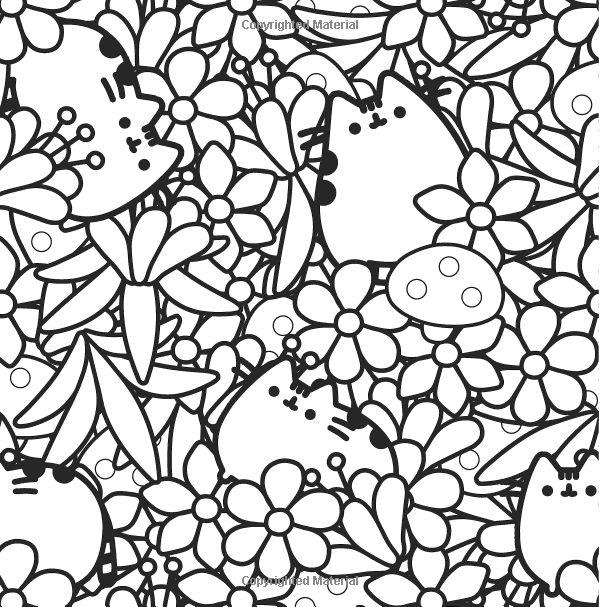 amazoncom pusheen coloring book 9781501164767 claire belton books