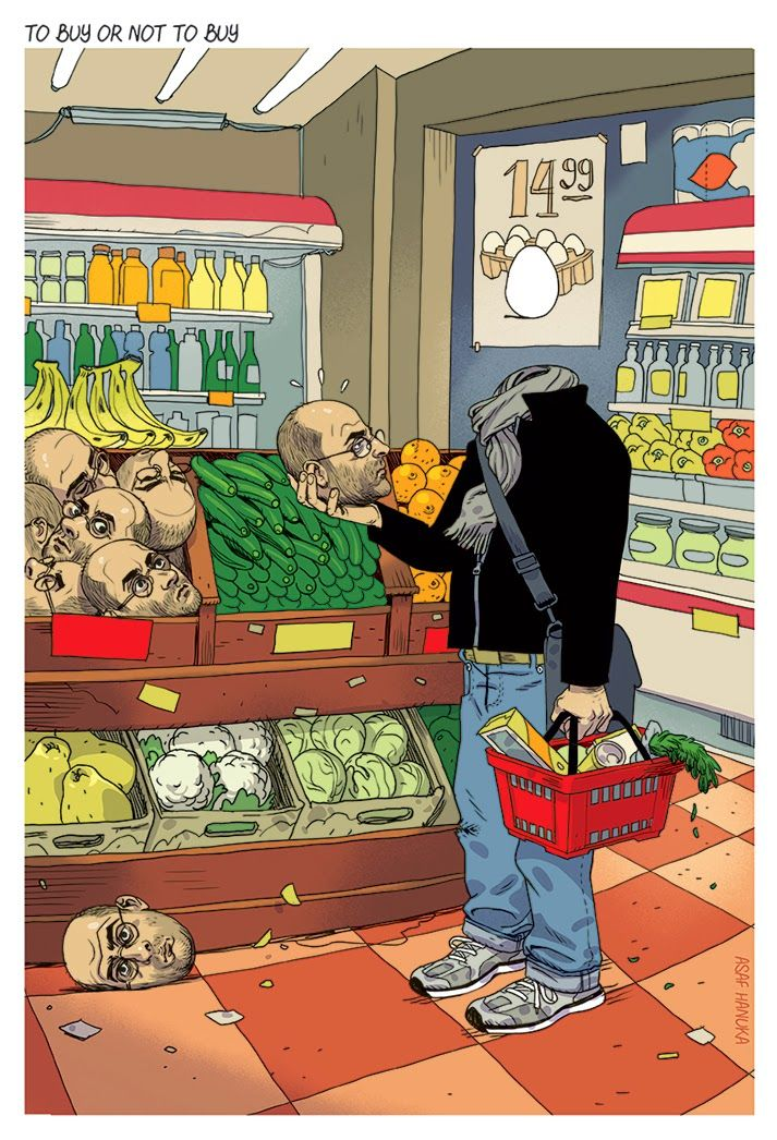 """""""To buy or not to buy"""" by Asaf Hanuka"""