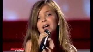The little girl sings like a pro, via YouTube. Caroline Costa, Incroyable Talent