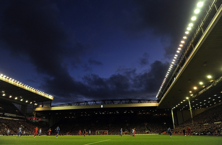 The evening sky over Anfield on matchday as http://@Gina Lunt FC take on Wigan Athletic http://#LFC