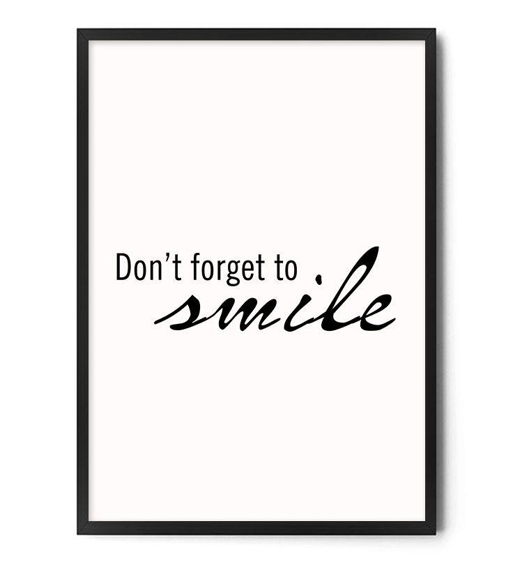 Plakat SMILE www.foxartstudio.pl