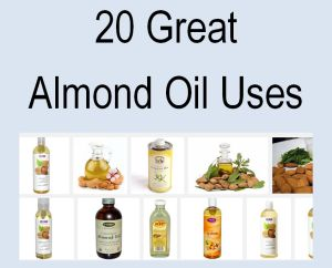 Almond Oil uses  - it's good for just about EVERYTHING and good for you too! Save some money and find out natural ways to use almond oil in your home