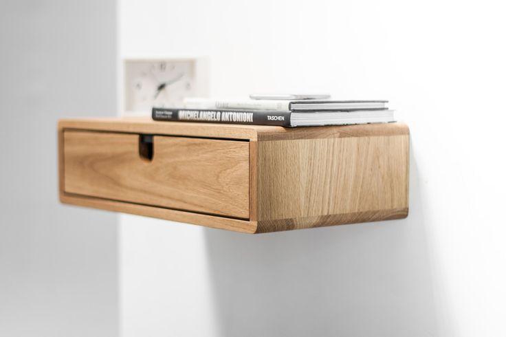 Floating Nightstand with Drawer in Oak Scandinavian by Habitables