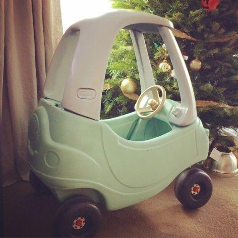 Little tikes play car makeover  Sew Merisko