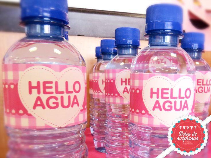 Etiquetas para botellas de agua