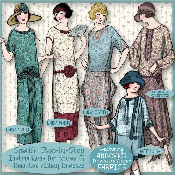 83155a51067 27% off DOWNTON Abbey 1 HOUR DRESS Pdf Booklet Andover Pdf Edition -  Vintage 1920 s Make Dress in 1