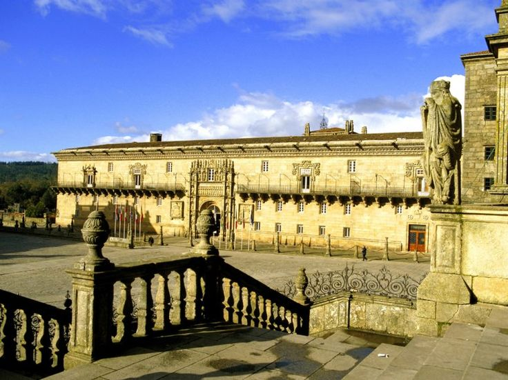Parador de Santiago de Compostela  Santiago de Compostela, Spain      Also known as Hostal dos Reis Católicos, this famous Spanish parador began as a hospital in 1499 to give refuge to the many pilgrims coming into Santiago; some consider it to be the oldest hotel in the world. Its spectacular location in the Plaza do Obradoiro means that some of the rooms have windows looking down on the cathedral square where the pilgrims finish their walks.