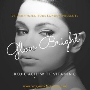 Kojic acid and vitamin C (L-ascorbic acid) are the two key active ingredients in Glow Bright Injections. Find out more and visit our website for details! #VILondon #IVTherapy @vitaminivlondon