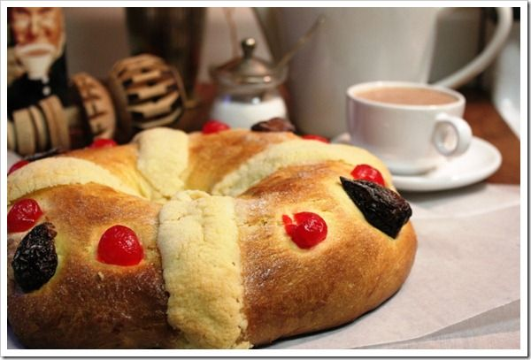 Three Kings Day - Rosca de Reyes.  A traditional bread served on 3 kings day in many parts of Mexico.