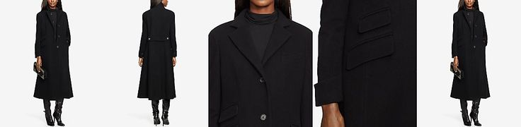 Lauren Ralph Lauren Wool-Cashmere Blend Single-Breasted Long Coat