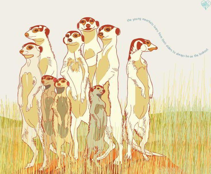 meerkats by Sheila Petousis for Clip Clop Family Calendar