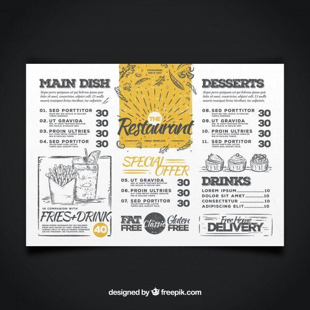 Pinterestu0027teki 25u0027den fazla en iyi Restaurant menu template fikri - free kids menu templates