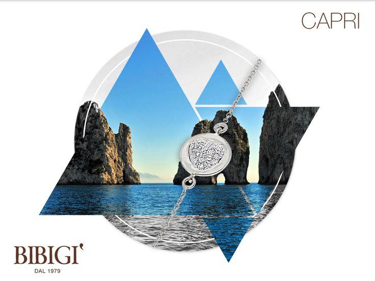 #Bibigi | Collezione #Capri | Bracciale in oro bianco e diamanti.