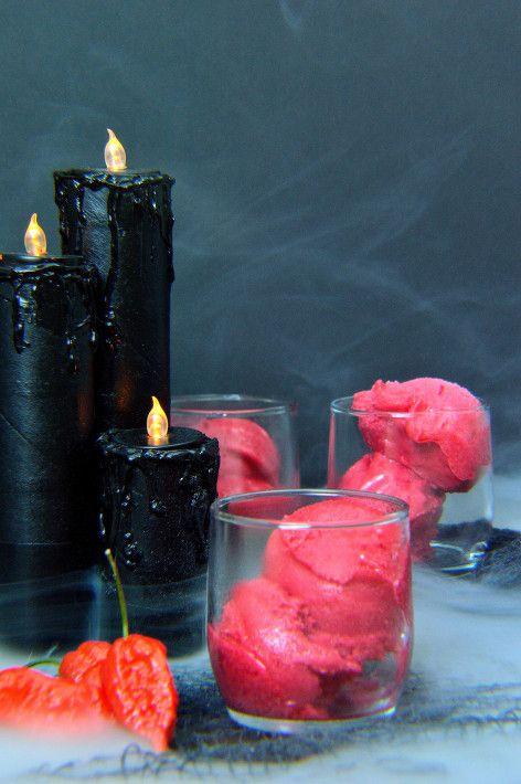 Ghost pepper raspberry sorbet                                                                                                                                                                                 More