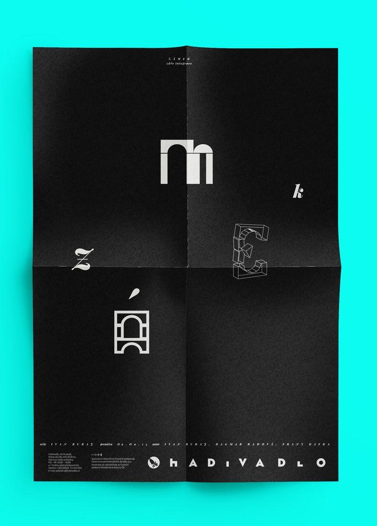 poster for theatre (Kafka: Castle)
