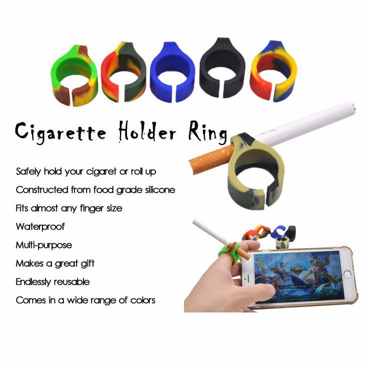 Due Tipi Disponibili di Nuovo Disegno Del Silicone Anello Dito Mano Cremagliera Supporto di Sigaretta Per Regolare Accessori di fumare Regalo. Colore Casuale