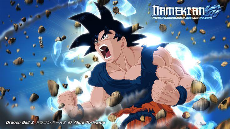 Goku Powers Up by NamekianKAI.deviantart.com on @deviantART