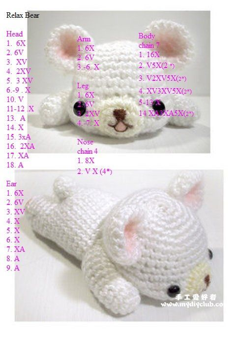 Amigurumi Ayıcık Yapılışı-amigurumi free pattern bear   Tiny Mini Design