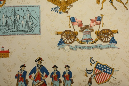1776 1976 Vintage Wallpaper We Had This In Our Kitchen
