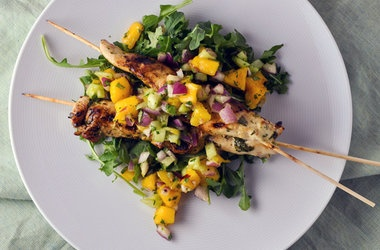 salsa de mango grilled fish skewers with cilantro and cumin chipotle ...
