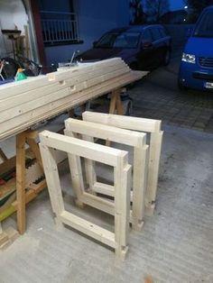 Hier beschreibe ich den Bau einer sehr stabilen Werkbank aus einfachen Kanthölz…