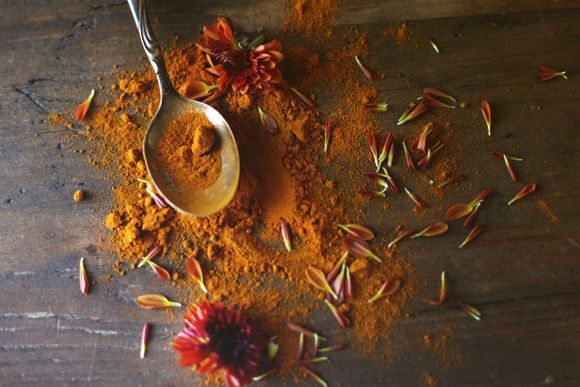 Two Uses For Turmeric In The Fall // Turmeric Elixir for when you're sick and Turmeric Lotion to fight acne and even out skin tone.