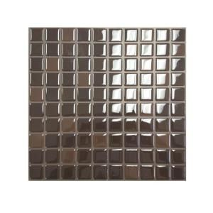 peel and stick, cut with scissors rv backsplash - Smart Tiles 10 in. x 10 in. Brownie Mosaic Tile Decorative Wall Tile-SM1009-1 at The Home Depot