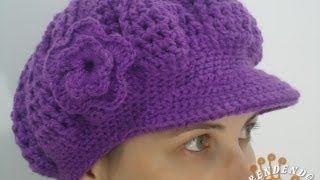 boina tejida a crochet - YouTube