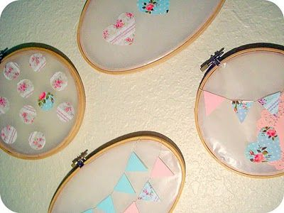 ♥ DIY Tutorial: Wax Paper Embroidery hoops wall art♥ | *Free ♥ Pretty ♥ Things ♥ For ♥ You*