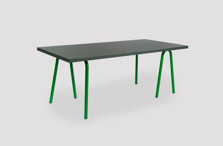 "Things that inspire us: Trion Table by Shane Schneck for Hay ""Trion is a versatile table by Wrong for Hay. It is suitable for many purposes, but the special detail of it is that the trestles have..."