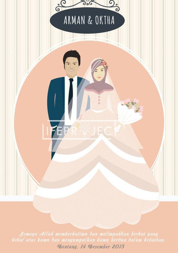 Custom wedding illustration.