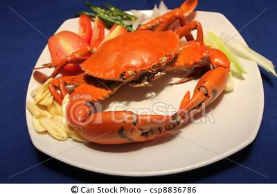Cooked Crab with Spices