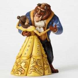 Moonlight Waltz-25th Anniversary Belle and Beast Dancing Figurine - Disney Traditions