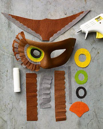 Owl Mask - Step 1 - MarthaStewart.com                                                                                                                                                     More