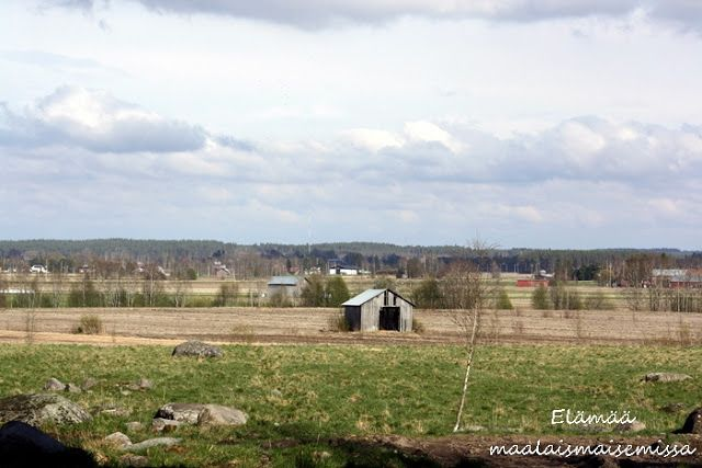 Elämää maalaismaisemissa: Kevätmaisemia uudelta kotiseudulta