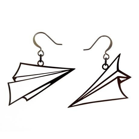 Paper Airplane Earrings – Nickel Tone from Biodidactic Jewellery - R299 (Save 0%)