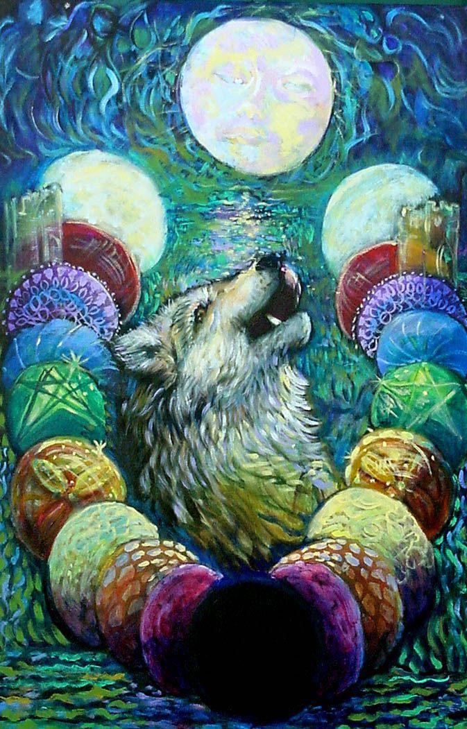 The Moon  Creators Path Tarot  Anna Mills Raimondi
