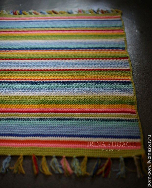 Купить Коврик Лохматый Мексиканский - разноцветный, мексика, мексиканский, акцент, купить яркий коврик