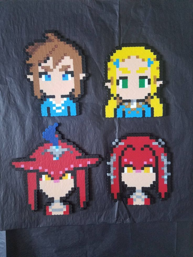 Legend Of Zelda: Breath of the Wild Zelda, Link, Mipha and Sidon by FndmCrafts on Etsy