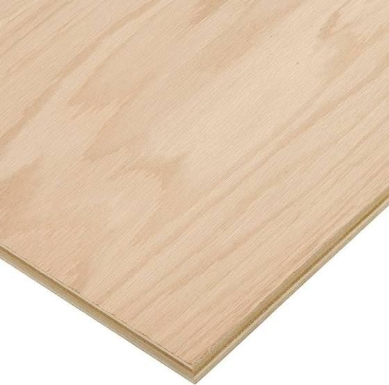 3/4 in. x 4 ft. x 8 ft. PureBond Red Oak Plywood- for overlay of credenza in DR and Santiago's daubed