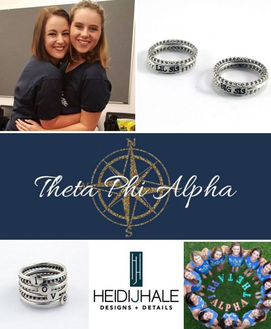 HUGS & KISSES for the WINNER of the sorority sugar • Heidi J Hale BIG/LITTLE BLISS GIVEAWAY!!!! ❤ CONGRATS: Mason Walthall • ΘΦA • Alpha Mu • Northern Kentucky University!! Lucky winner of 2} sets of silver big/little rings with spacers AND {2} sets of silver ΘΦA rings with spacers!! ❤ THANK YOU: Sweet Elite Sponsor HEIDI J HALE! http://www.heidijhale.com
