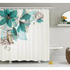 Free Shipping. Buy Butterflies Decoration Shower Curtain Set, Girl Fashion Flowers With Butterflies Ornamental Floral Foliage Nature Forest , Bathroom Accessories, 69W X 70L Inches, By Ambesonne at Walmart.com